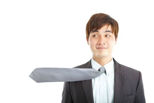 funny businessman with tie