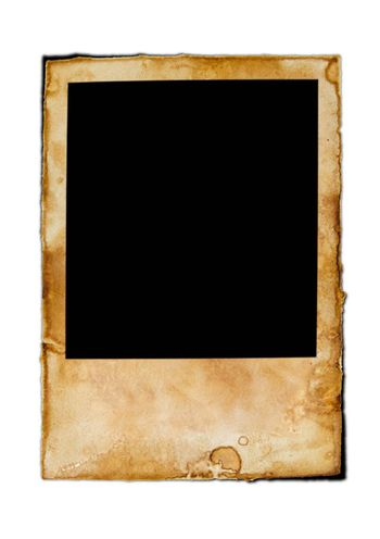 Blank vintage photo paper isolated on white background