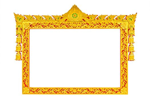 ancient thai style sculpture frame isolated