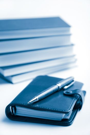 planner and books
