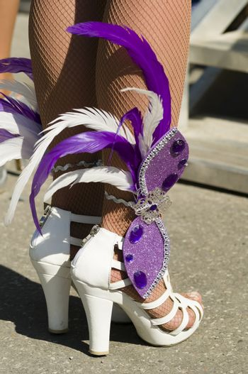 Feathered dancer shoes