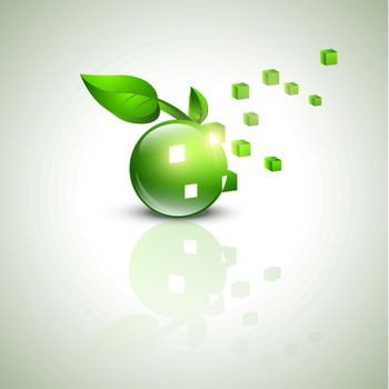 abstract eco green design