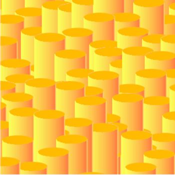 Abstract vector orange background - Column chart