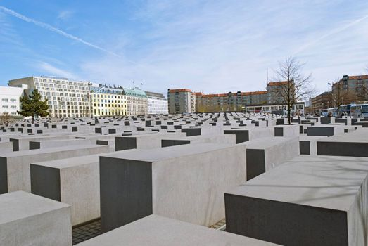 Memorial to the Murdered Jews of Europe, or Holocaust Memorial in Berlin, Germany