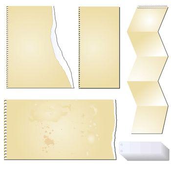vector grunge scrapbooking tablet paper