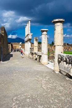Ancient ruins of Pompeii