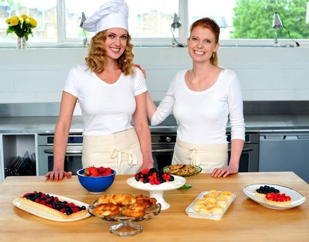 Professional chefs in commercial kitchen