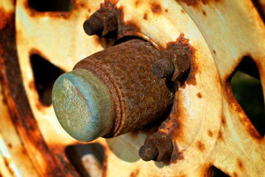 Rusty wheel hub