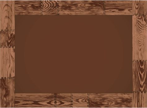 The vector horizontal frame - dark wood design
