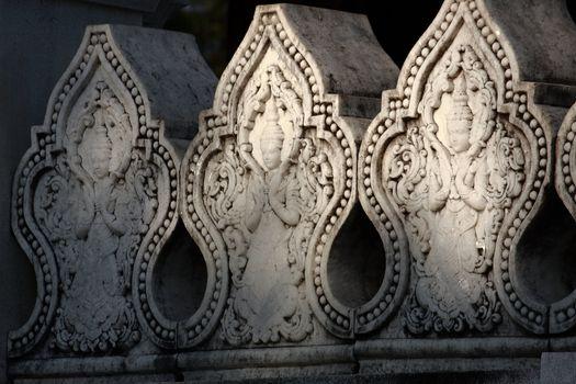 carve on wall at shwedagon pagoda