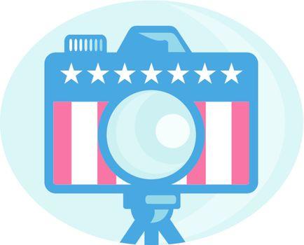 American DSLR Camera Stars and Stripes Flag