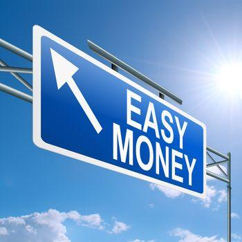 Easy money concept.