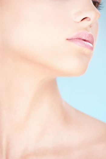 Part of a woman's face