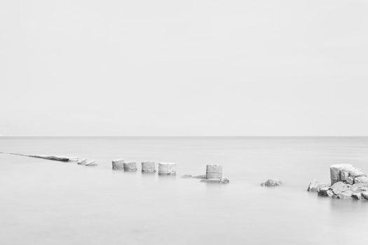desolate and broken pier