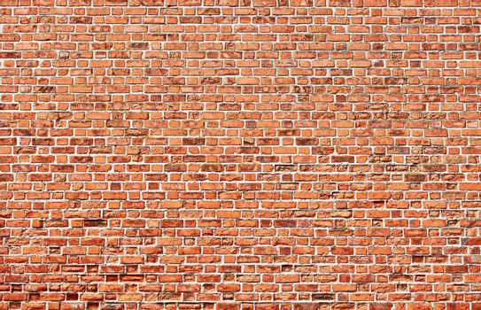 Background - brick red wall texture