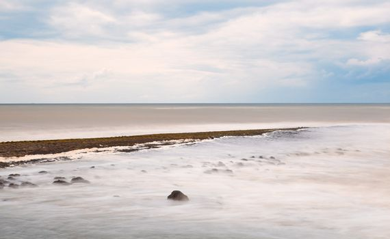 abstract view on North sea