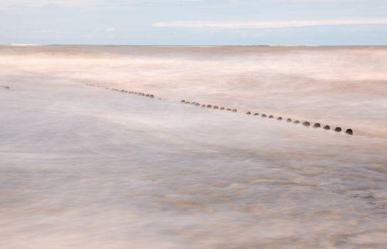 abstract photo of North sea