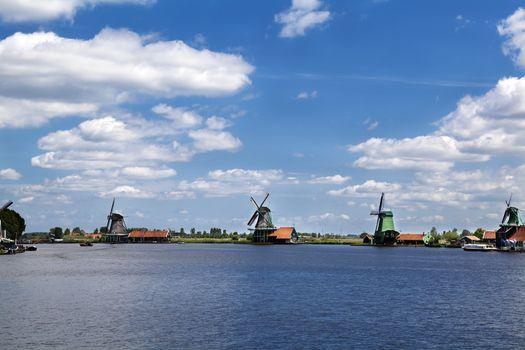 windmills on horizon