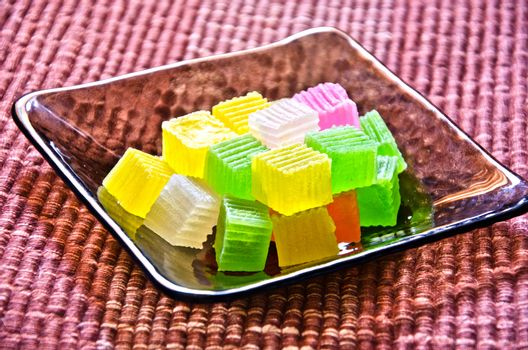 Colorful sweetness jelly candy in thailand