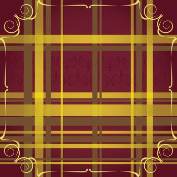 fine retro background with golden stripes and ornamental elements