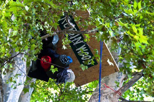 STUTTGART - SEPTEMBER 18: Demonstration against the S21 plans