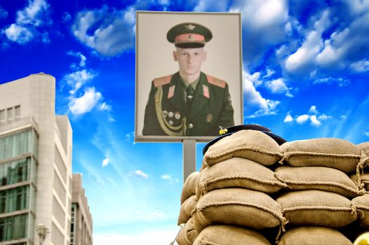 Signs and Symbols in Berlin Checkpoint Charlie