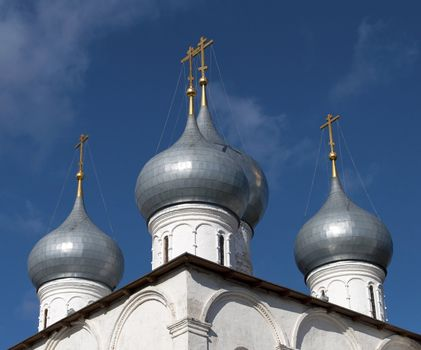 Dome of the Holy Cross Cathedral in Tutaev, Russia
