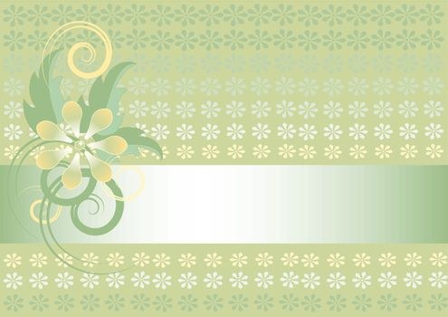 Light green background with flower
