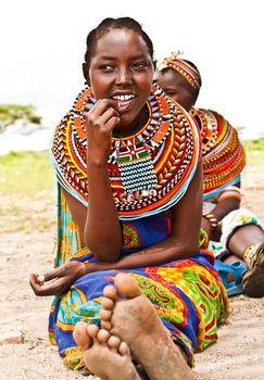 Pretty African teen