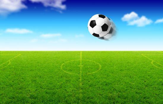 Illustration of football ball in motion