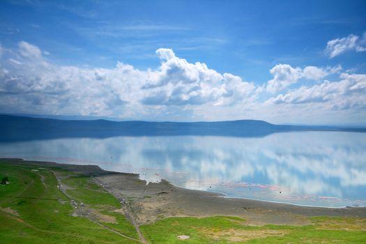 Peaceful view on the lake Nakuru