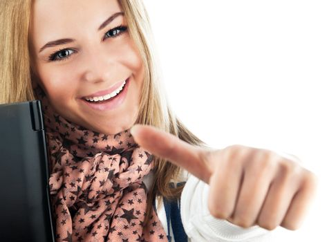 Happy cheerful student