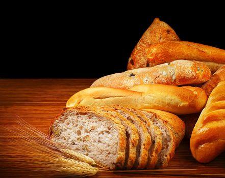 Warm baked bread