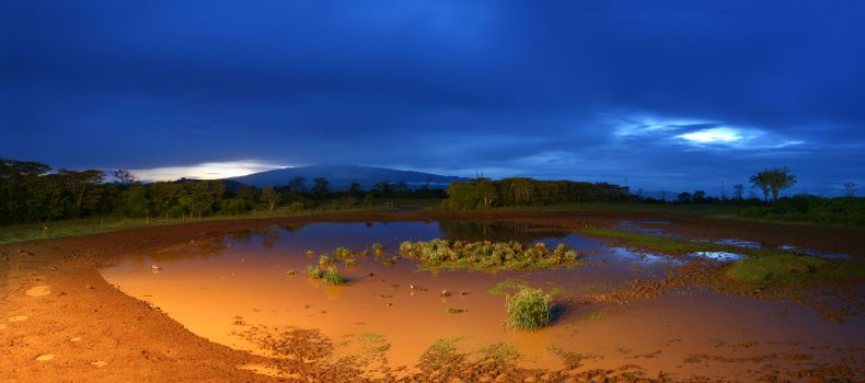 Panorama of a night landscape
