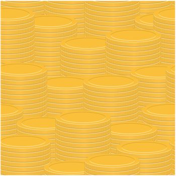 Stacks of coins - abstract seamless vector texture