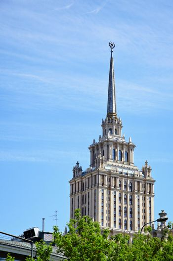 An old high-rise hotel in Moscow, Russia