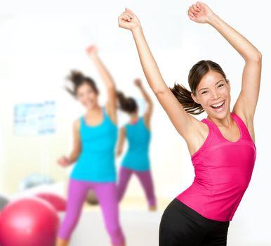 Fitness dance class women