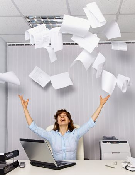 Enjoy working in the office - office business scene