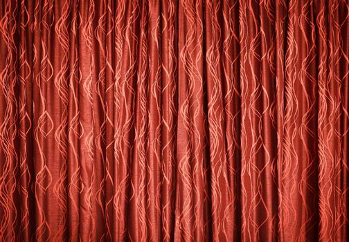 The red curtains - Textile background
