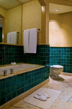 Bathroom of a elegant 5 star luxury hotel suite room