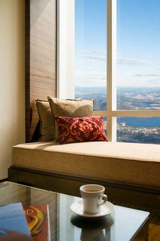Living room with beautiful interior design