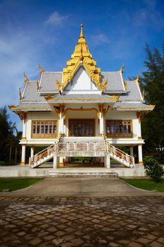 A small Buddhist temple. Surin Beach, Phuket, Thailand