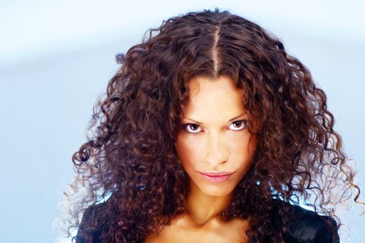 Curl hair woman