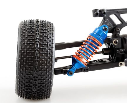 suspension of modern radio controlled car for competitions