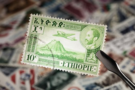 Stamp from Ethiopia