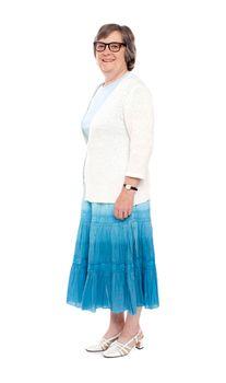Matured lady dressed in trendy attire