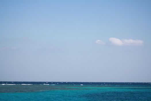 holiday in the open sea with blue water