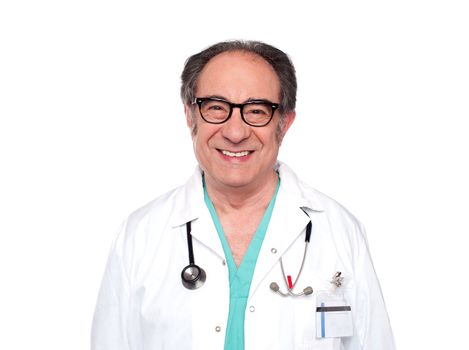 Experienced doctor with stethoscope