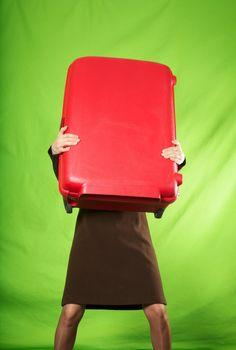 heavy suitcase