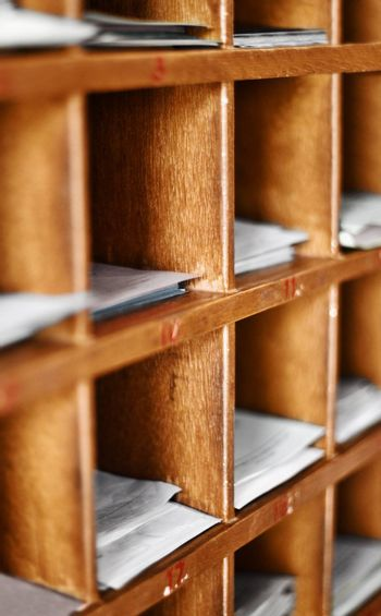 Wood cells with documents - artifacts for buddhist divination